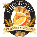 Shock Top Honey Bourbon Cask Wheat is a Belgian-style unfiltered wheat ale brewed with honey, caramel malt and aged on bourbon cask staves for the perfect balance of flavor and refreshment.