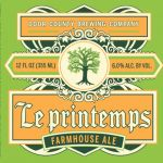 Our spring farmhouse ale, Le Printemps (pronounced leh pren tahmp) is golden in color and dry hopped giving it a bright citrus flavor and aroma with a hint of spice.